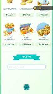 promo code pokemon go