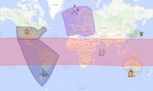 карта региональных покемонов